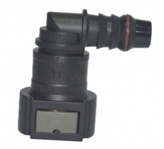 Quick Connect Plastic EFI Adapter (3/8 to 8AN Hose) 90 Degree