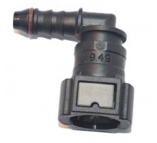 Quick Connect Plastic EFI Adapter (3/8 to 6AN Hose) 90 Degree